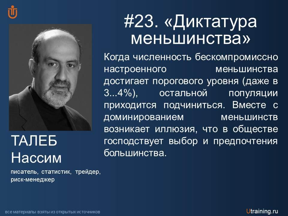 Диктатура меньшинства Н. Талеб