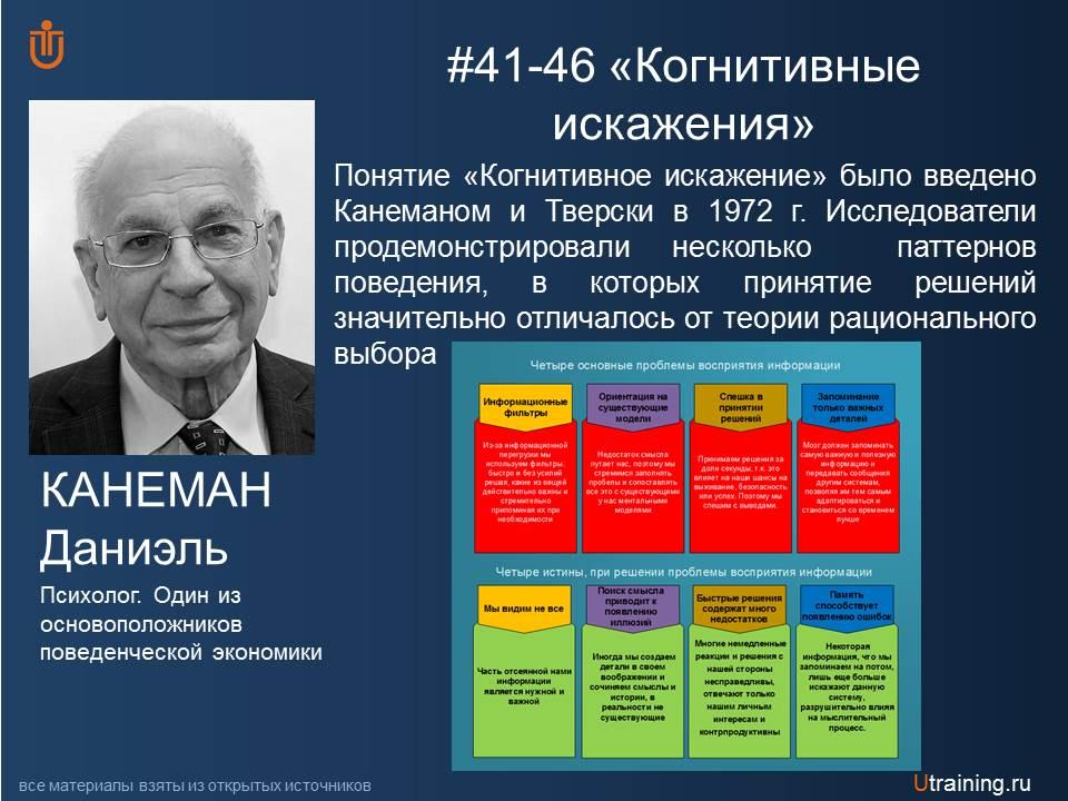 «Когнитивное искажение» Канеман Д., Тверски А.
